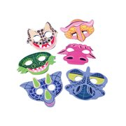 Set of 12 New Halloween Costume Party Foam Dinosaur Face Masks