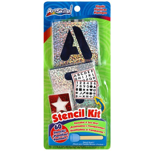 "ArtSkills Reusable Plastic Stencil Kit, 2.25"", 60-Count (PA-1209)"