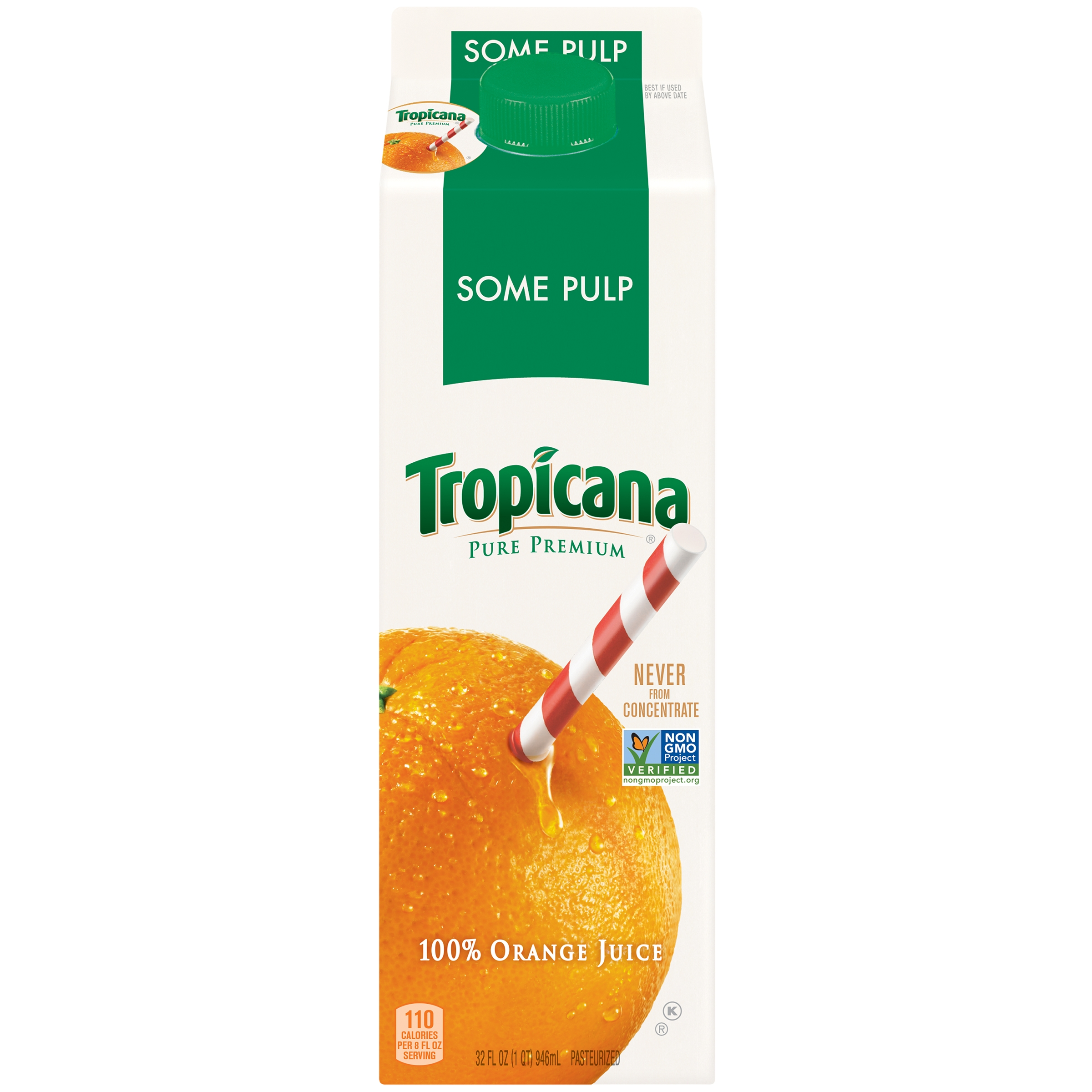 Tropicana Pure Premium Some Pulp Orange Juice 32 oz. Carton