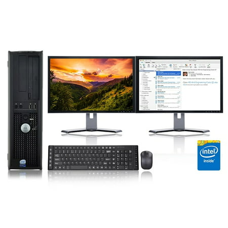 Dell Optiplex Desktop Computer 2 3 GHz Core 2 Duo Tower PC, 4GB, 160 GB  HDD, Windows 10 x64, Office 365 Essentials, 19