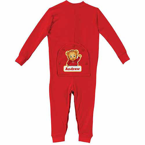 Personalized Daniel Tiger's Neighborhood Baby Boy Red Long Johns