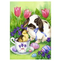 Toland Home Garden Easter Friends Flag