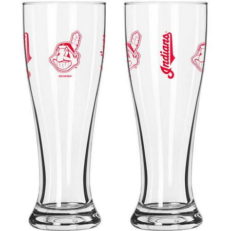 Mlb Beer (Boelter Brands MLB Cleveland Indians 2-Pack Gameday Pilsner Set)