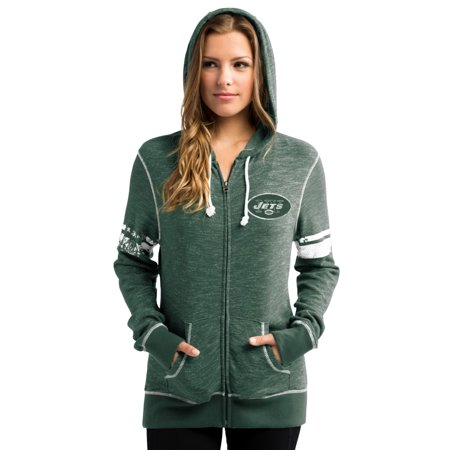 """New York Jets Womens Majestic NFL """"Athletic"""" Full Zip Hooded Sweatshirt by"""