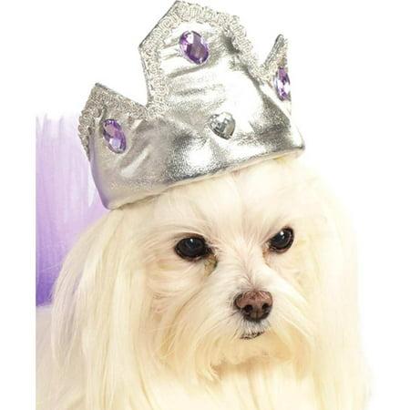 Pet Silver Tiara with Purple Stones