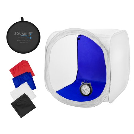 Square Perfect 30 Inch Classic Photography Light Tent   Softbox W  4 Backgrounds