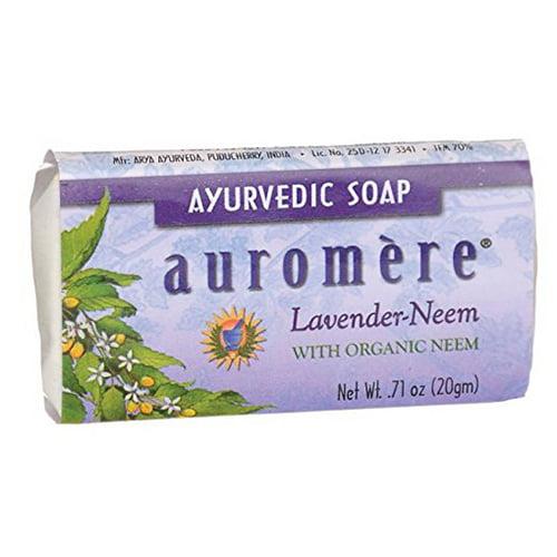 Auromere Ayurvedic Bar Soap Lavender Neem, 0.71 oz