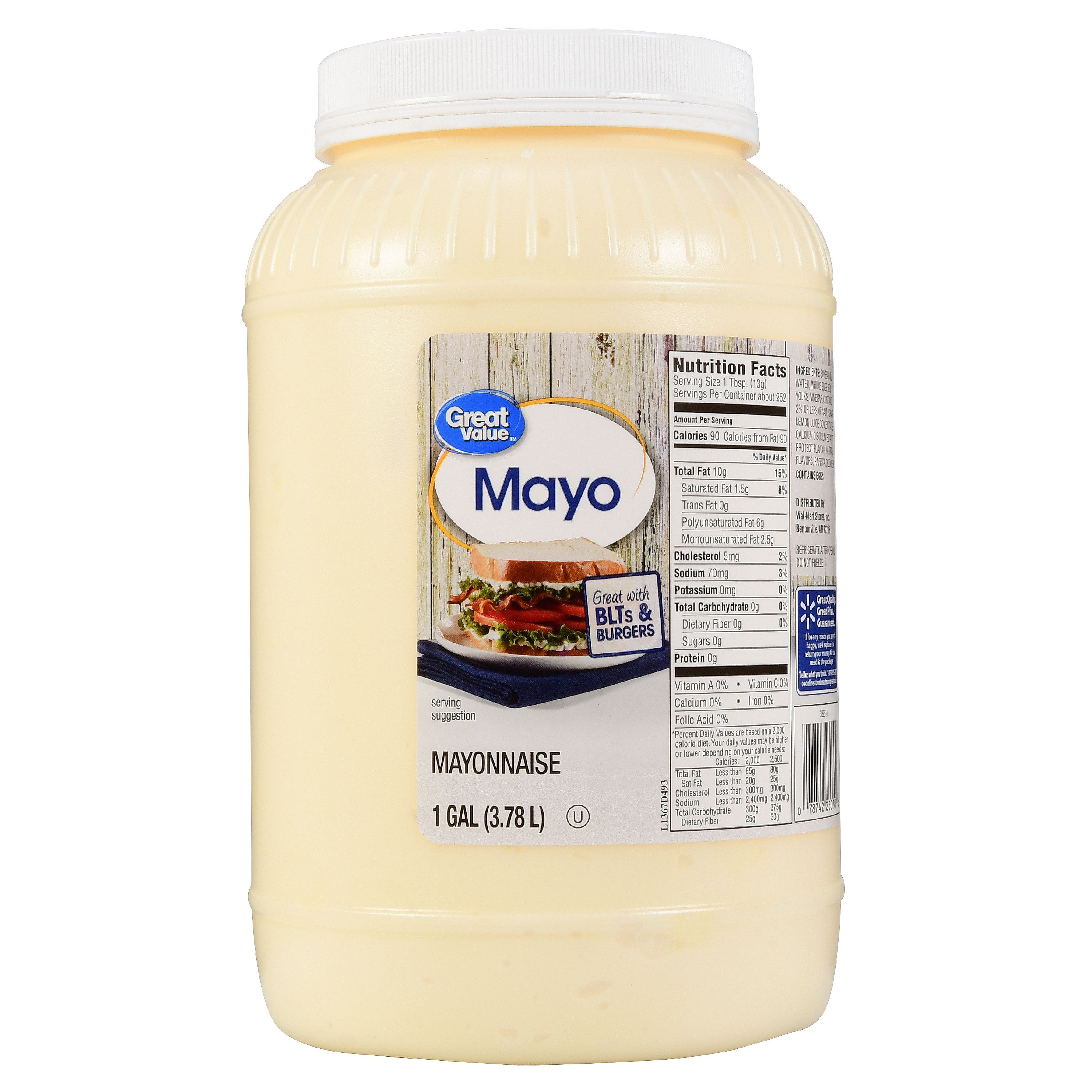 Great Value Mayonnaise, 1 gal