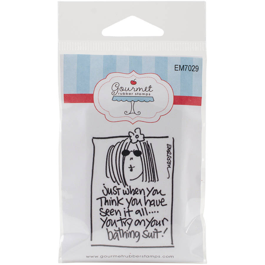"Gourmet Rubber Stamps Cling Stamps, 2.75"" x 4.75"", Just When You Think...Bathing Suit"