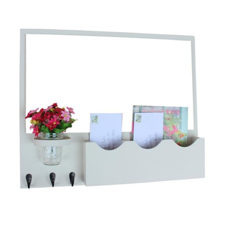 Mail Organizer With Whiteboard And Two Slots One Single Slot Large Double Key Hookason Jar