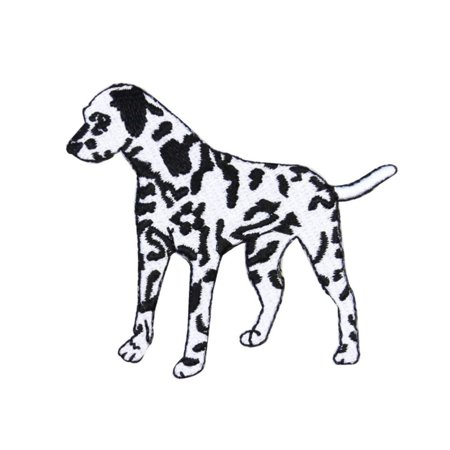 (ID 2815 Dalmatian Dog Patch Fluffy Firehouse Pet Embroidered Iron On Applique)