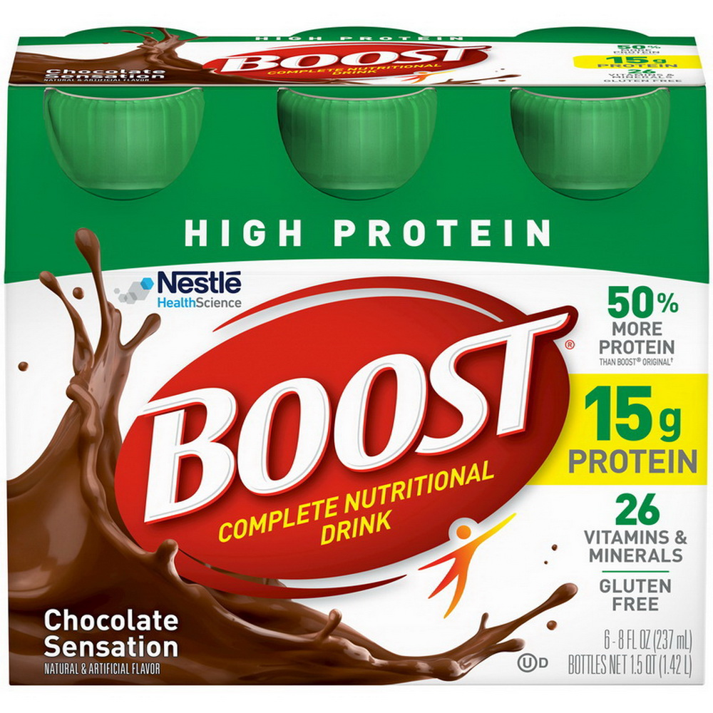 Boost High Protein Complete Nutritional Drink, Rich Chocolate, 8 Fl oz Bottle, 24 Count