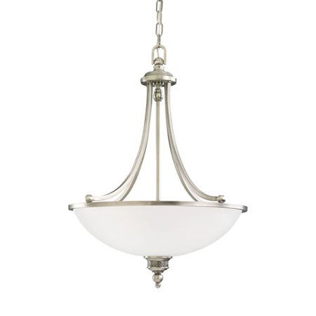 Laurel Leaf Antique Brushed Nickel Energy Star Three-Light LED Pendant