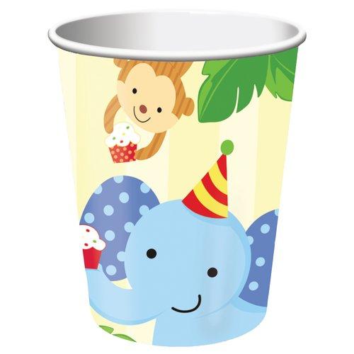 Creative Converting Zoo Jungle 9 oz Paper Cups, 8 count