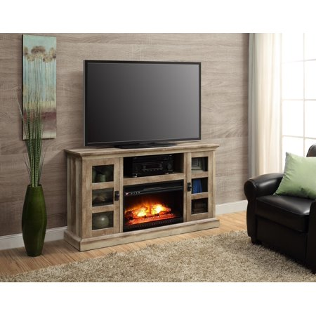 large media fireplace tv up to 70 stand entertainment center storage logs wood. Black Bedroom Furniture Sets. Home Design Ideas
