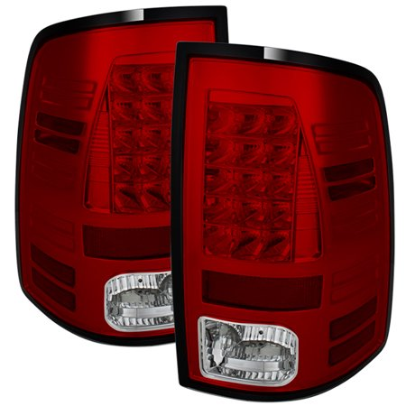 Clear Led Tail Lamps - Fits 13-18 Ram 1500/2500/3500 Models Red Clear LED Tail Lights Pair Brake Lamps