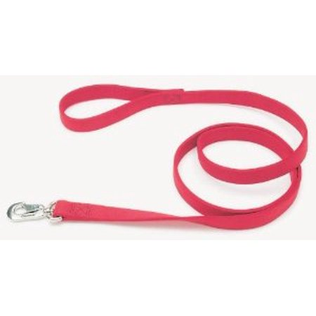 Double Ply Nylon Leashes 1 in. x 6 feet, Red Multi-Colored