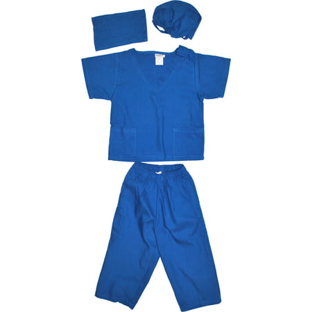 Kids Doctor Dress up Surgeon Costume Set, available in 13 Colors for 1-14 Years - Blue Superhero Costume