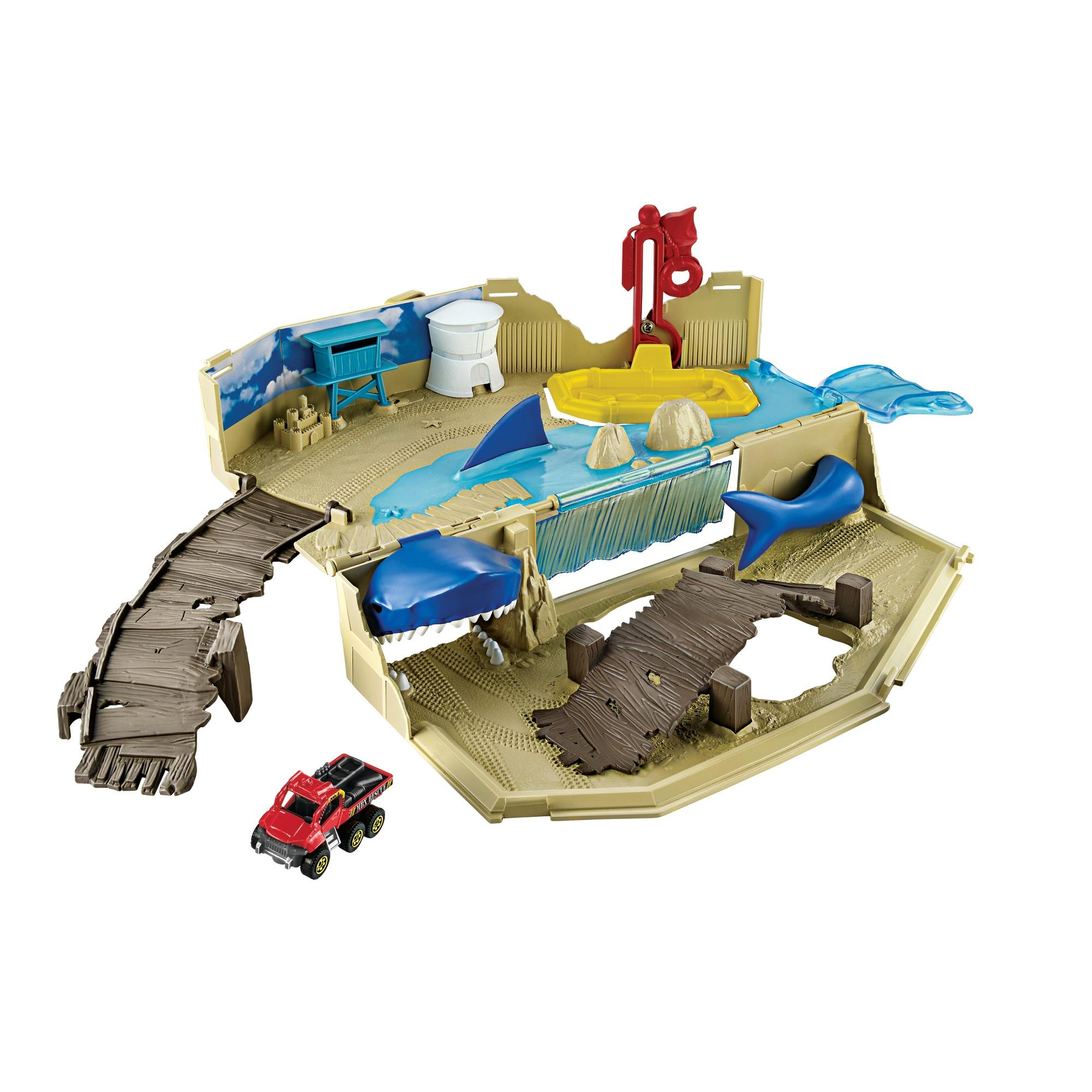 Matchbox Beach Bait Play Set with 1-Vehicle Included