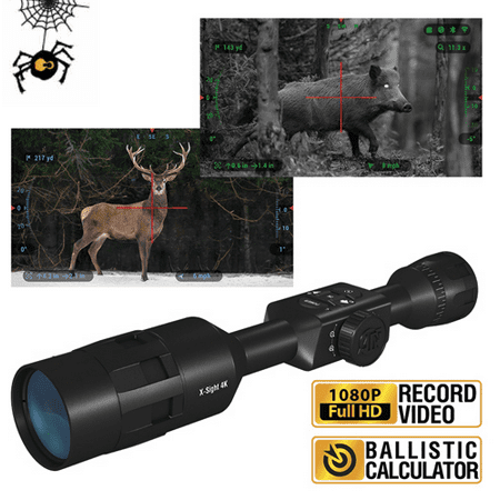 ATN X-Sight 4K Pro 5-20x Smart Day/Night Rifle Scope - Ultra HD 4K technology with Full HD Video, 18+ hrs Battery, Ballistic Calculator, Rangefinder, WiFi, E-Compass, Barometer, IOS & Android