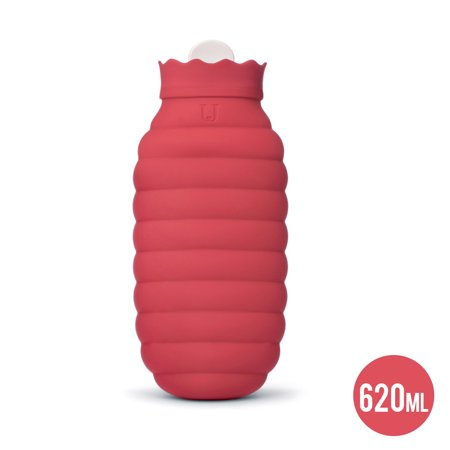 Xiaomi 313ml / 620ml Silicone Hot Water Bag Microwave Heating Hot Water Bottle Winter Heater with Knitted Cover (Hot Water Bottle Microwave)