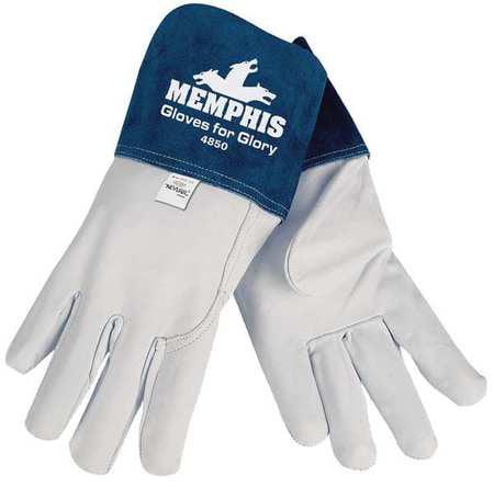 """MCR SAFETY Welding Gloves,MIG/TIG,12-3/4"""",2XL,PR 4850XXL"""