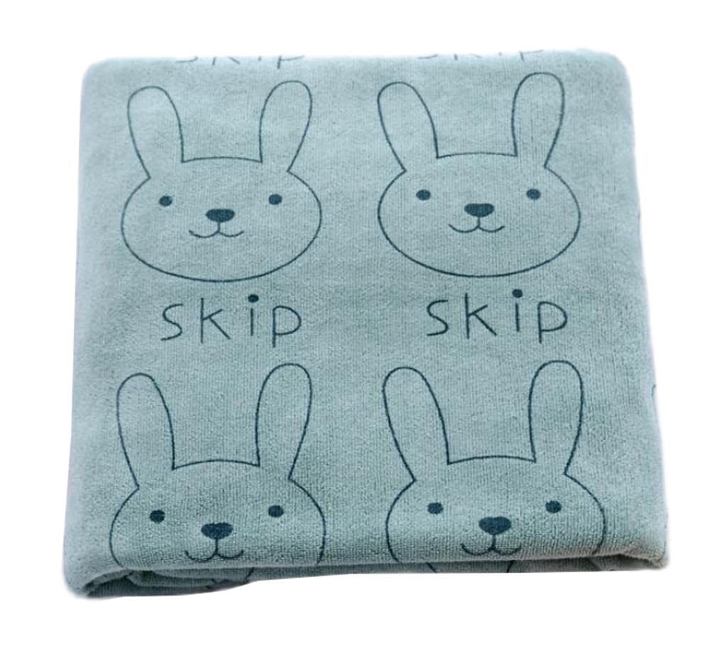 StylesILove Baby Soft Skip Rabbit Print Feeding Burp Cloth Washcloth Bath Towel (1-Pack, Blue) by StylesILvoe