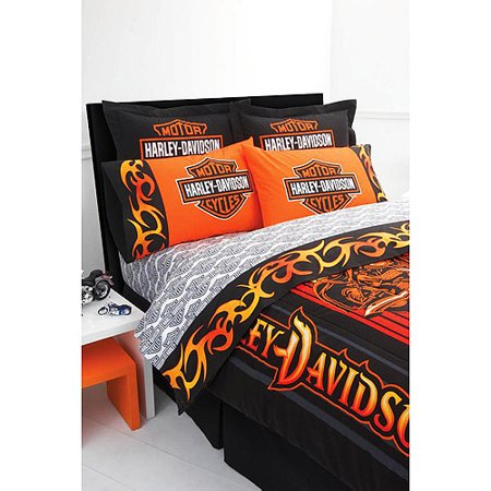 Queen Size Sheet Harley Davidson Bed Set