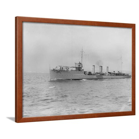 Large Ship Offshore Framed Print Wall Art