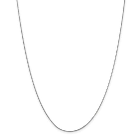 Roy Rose Jewelry 14K White Gold .90mm Round Snake Chain Necklace ~ Length 18