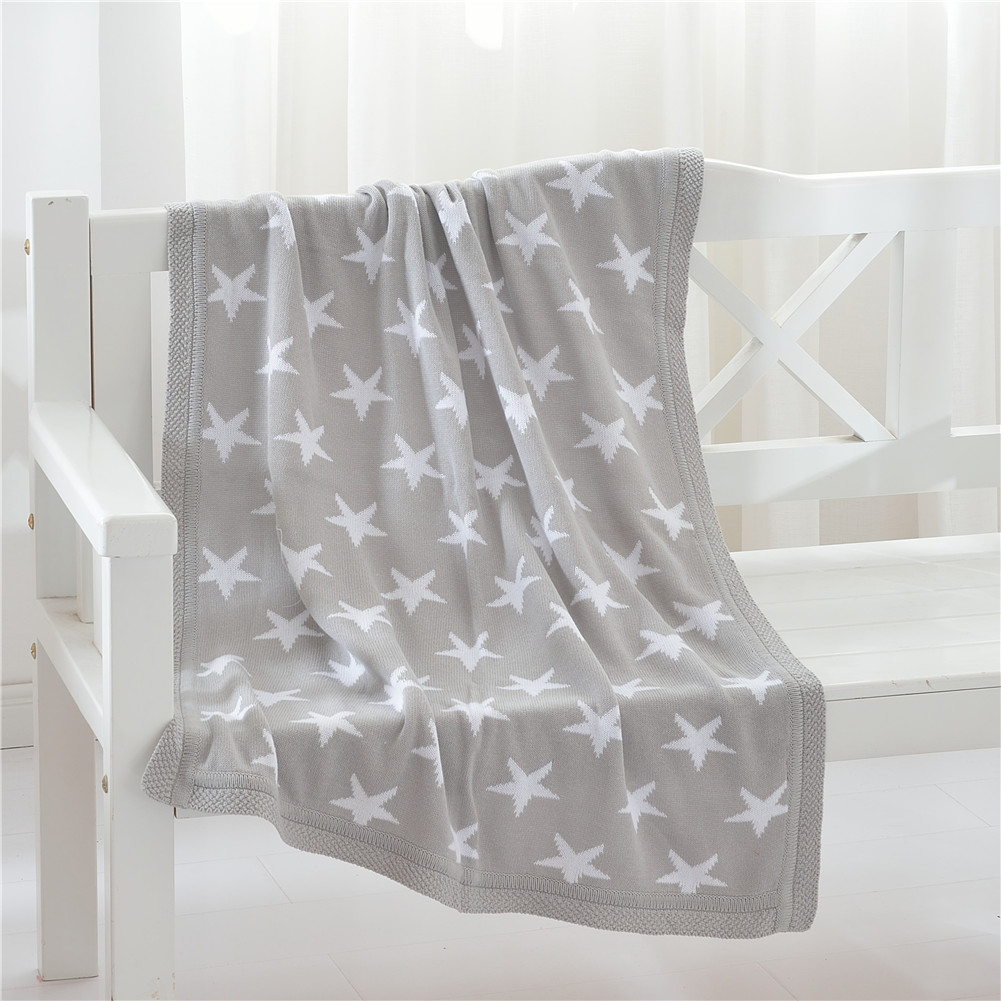 NewSHONE Comfortable Bedding Knitted Baby Blanket Wrap Soft Blankets Newborn Swaddling Kids Gift Grey by
