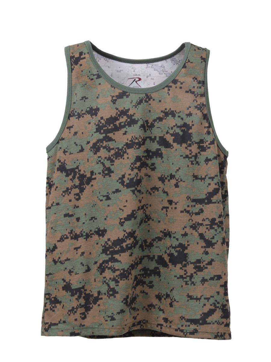 Tank Top Woodland Digital Camo