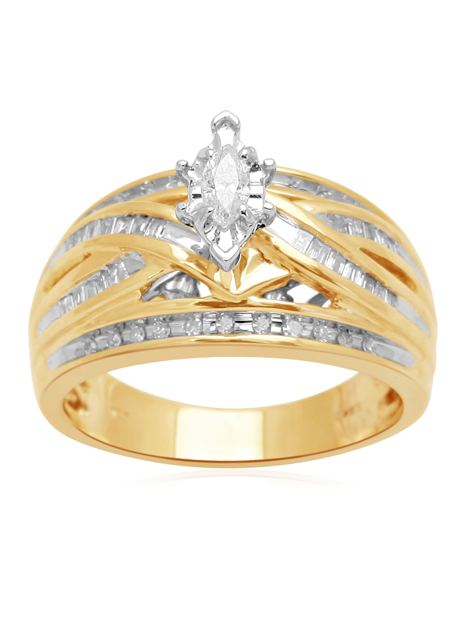 1/2 Carat T.W. Diamond 14kt Yellow Gold Bridal Ring