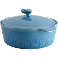 Ayesha Curry Stoneware Round Casserole, 2.5-Quart, Twilight Teal