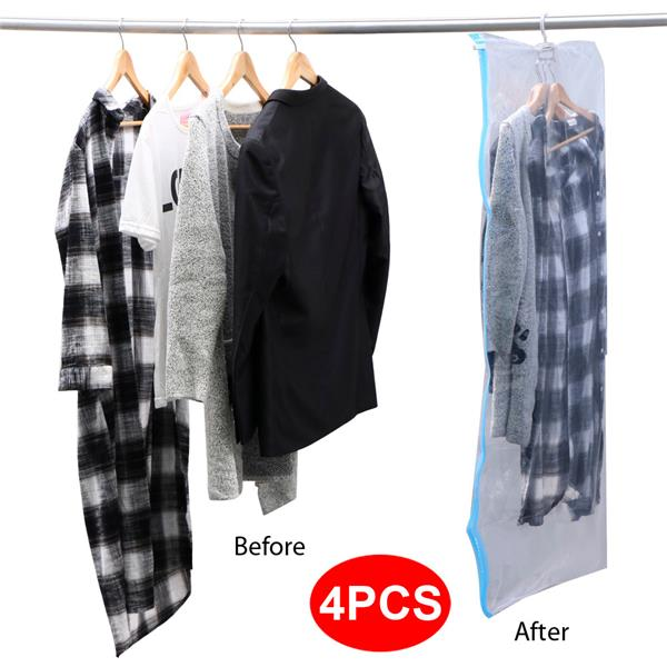 Yaheetech Hanging Vacuum Storage Bag Space Saver Bags for Clothes One Bag for 3-  sc 1 st  Walmart & Yaheetech Hanging Vacuum Storage Bag Space Saver Bags for Clothes ...