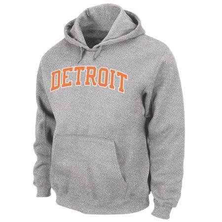 Detroit Tigers Majestic Cooperstown Cool Under Pressure Hooded Sweatshirt   Grey