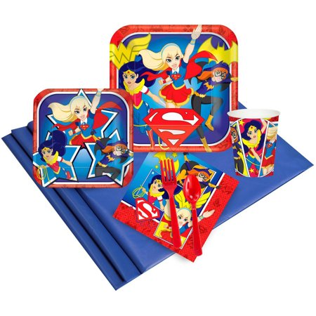 DC Comics Super Hero Girl Party Pack for - Superhero Party Ideas