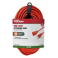 Hyper Tough 100FT 16/3 Extension Cord for Outdoor use (Orange)