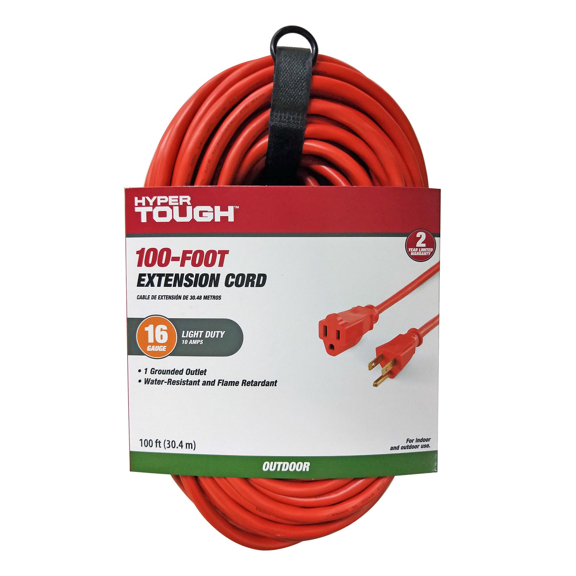 Hyper Tough 100FT 16/3 Green Extension Cord