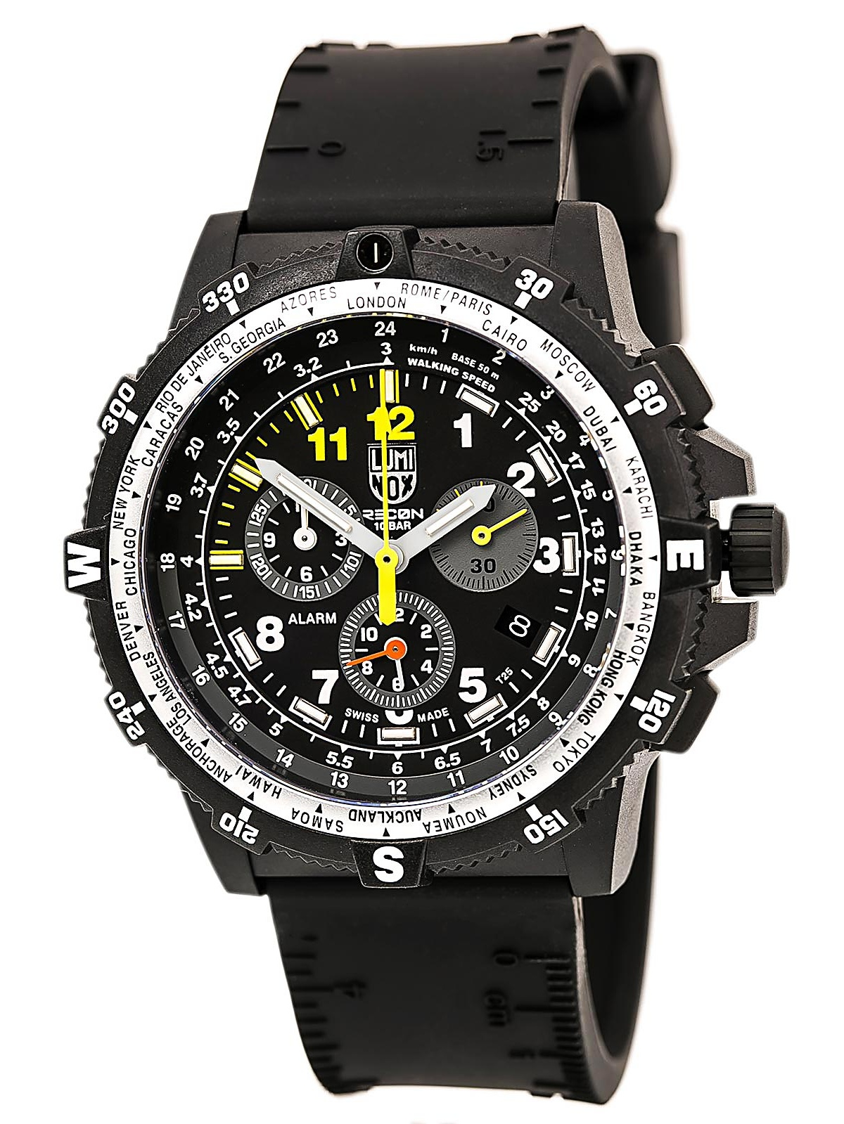 Luminox 8841.KM.SET Men's Land Recon Team Leader 8840 Black Dial Interchangeable Strap Chrono Watch