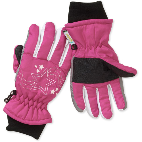 Girls' Milky Way Ski Gloves with Star Embroidery