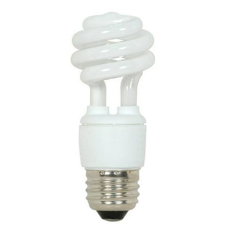 Satco 9w T2 Mini Spiral (Satco S7213 9W T2 Ultra Mini Spiral Light Bulb Screw-In 5000K fluorescent bulb)