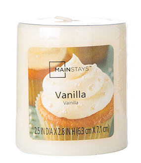 "Mainstays 2.8"" Pillar Candle, Vanilla by MVP Group International"