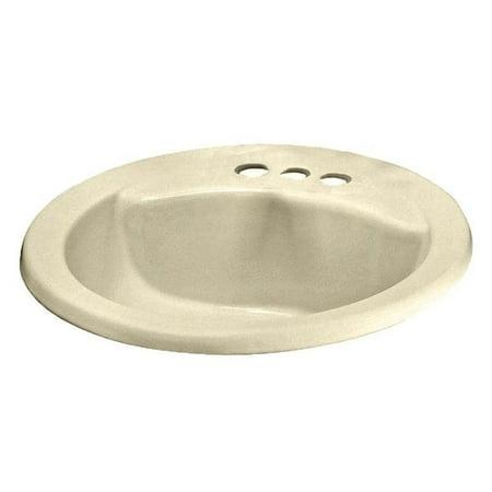 Cadet Self-Rimming Drop-In Bathroom Sink in Bone
