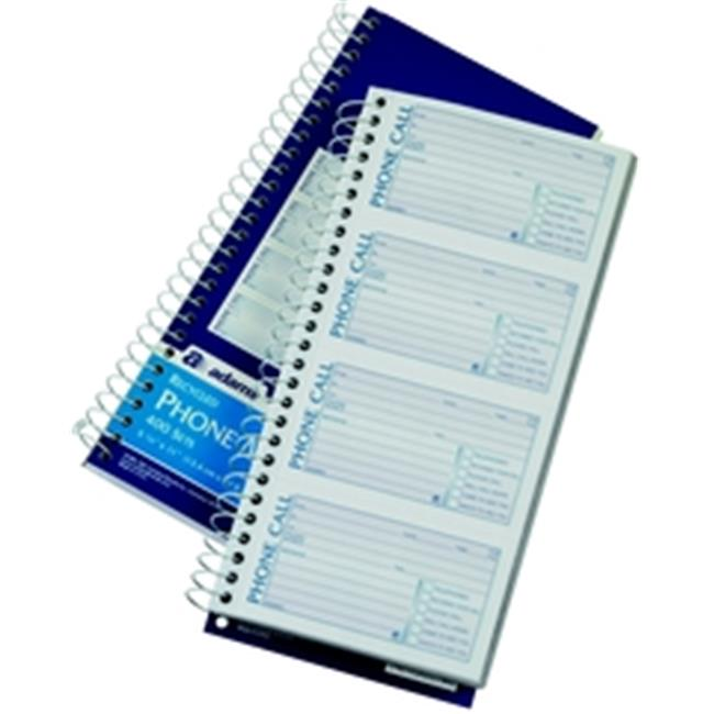 Adams SC1154R Recycled Phone Message Book, 2-part, carbonless, 4 per PG, 400 ST per BK