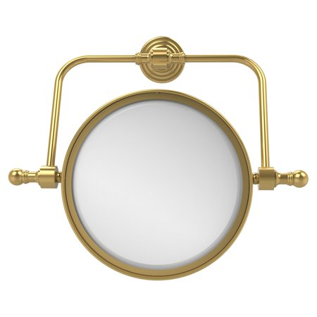 Allied Brass Retro Wave Wall Mounted Swivel Makeup Mirror with 3X - Brass Swivel Mirror