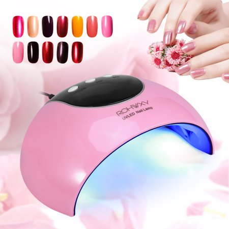 Aramox 24w Manicure Uv Led Nail Gel Polish Curing Light Lamp Smart