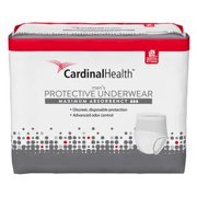 Cardinal Health Maximum Absorbency Protective Underwear for Men,  Large/XL 45'' to 58'', Pack of 18