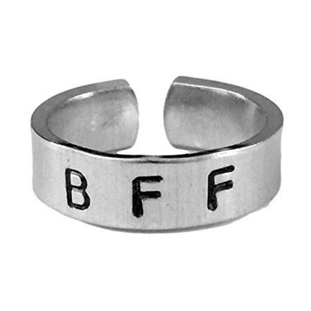 BFF - Best Friends Forever- Handstamped Cuff Ring