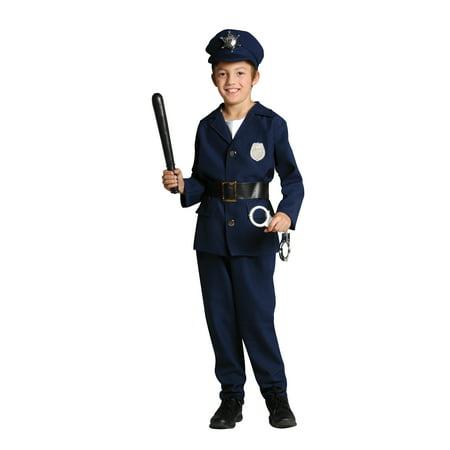 Policeman With Boys (Child Policeman Costume)